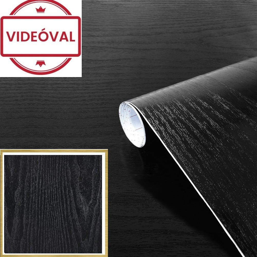 Fekete faerezetű öntapadós tapéta 45cm 200-1700A
