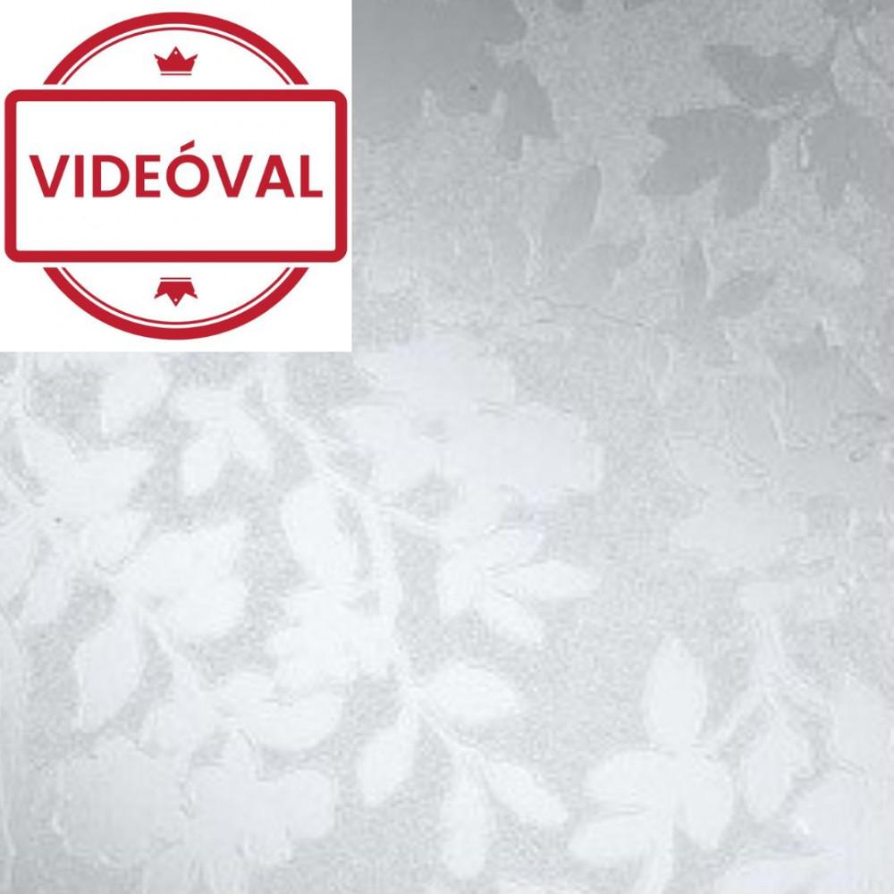 Virágmintás statikus üvegtapéta 338-8027