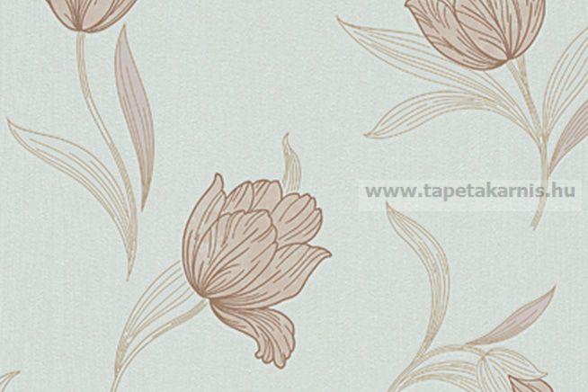 Barna virágos tapéta 9617-02