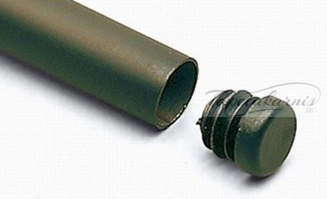 Műanyag fekete végzáró 12mm átmérő