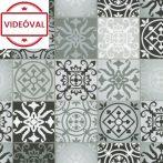 Fekete cementlap mintás öntapadós fólia 12066