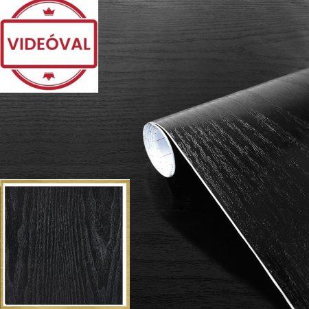 Fekete faerezetű öntapadós tapéta Blackwood 200-1700.