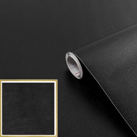 Öntapadós tapéta fekete bőr minta Leder schwarz 200-1923.