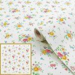 Virágmintás öntapadós tapéta Sunflor weiss 200-2494.