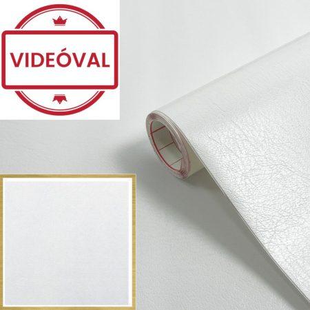 Öntapadós tapéta fehér bőrmintázatú,fehér 200-2840.