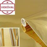 Metálfólia öntapadós magasfényű arany Hochglanz gold 201-4528.