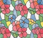 Üvegtapéta öntapadós színes virágmintás 346-0117