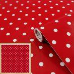 Öntapadós tapéta Petersen, piros, pöttyös 346-0627