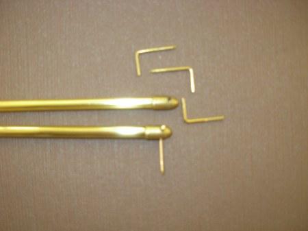Réz vitrázsrúd 7mm