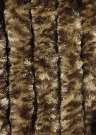 Bozont függöny 90x200cm sötétbarna -  bézs