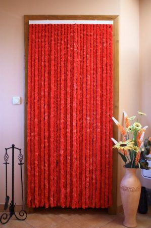 Bozont függöny 90x200cm piros