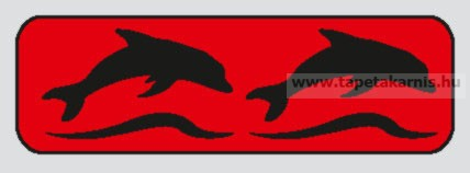 Festősablon -  Delfin bordűr L-227