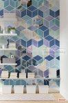 Geometric Blue poszter P024-VD2