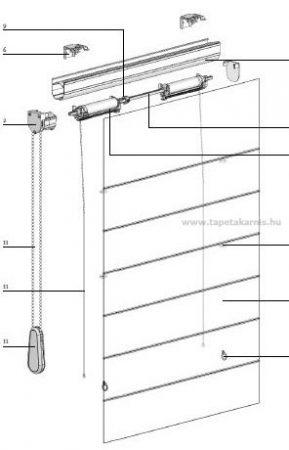Raffroló merevítő pálca 6mm