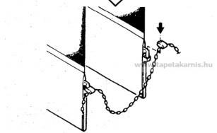 Szalagfüggönyhöz alsó gyöngylánc