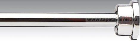 Zuhanyfüggöny karnis 120-220 fényes króm színben
